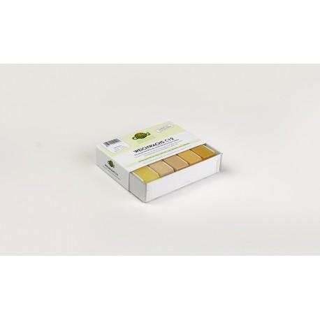 5 ks opravných měkkých vosků - medová, javor, smrk, jedle, borovice