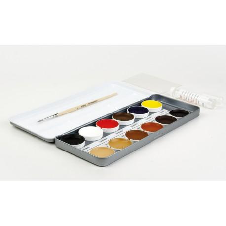 Retušovacie farbičky pre opravné maľovanie a reštaurovanie