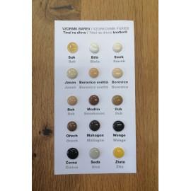 Vzorník barev tmelu na dřevo knottec