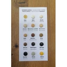 Vzorkovník farieb tmelu na drevo knottec