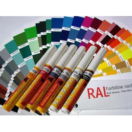 Vzorník RAL barev - Korekční tužka, fix pro opravu laku